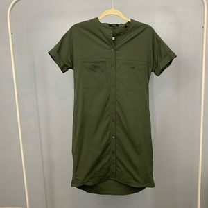 Theory | Army Green Button Down Shirt Dress small